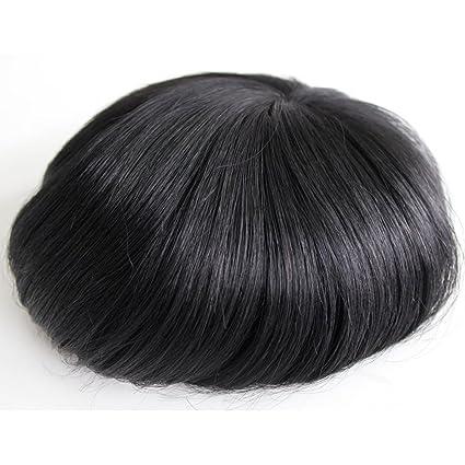 Peluca hombre, peluca para hombre, peluca hombre natural de cabello humanos Clips en cabello
