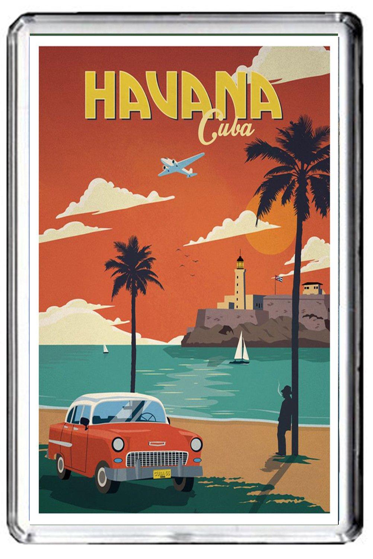 B616 HAVANA KÜ HLSCHRANKMAGNET CUBA VINTAGE TRAVEL PHOTO REFRIGERATOR MAGNET CALENDARSFORLOVE