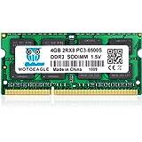 4GB PC3-8500 DDR3 1066 MHz RAM Laptop, Motoeagle 2Rx8 PC3 DDR3 204pin SODIMM Memory 1.5V CL7 Upgrade Chips