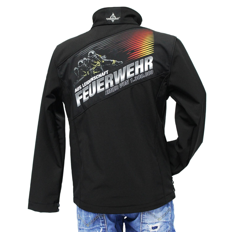 FIRE /& FIGHT Streetwear Feuerwehr AUS Leidenschaft Feuerwehr M/änner Softshell Wind und Outdoor Jacke