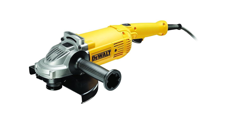 DEWALT DWE494-QS - Amoladora 230mm 2.200W 6.500 rpm Arranque Suave + Bloqueo y re-arranque