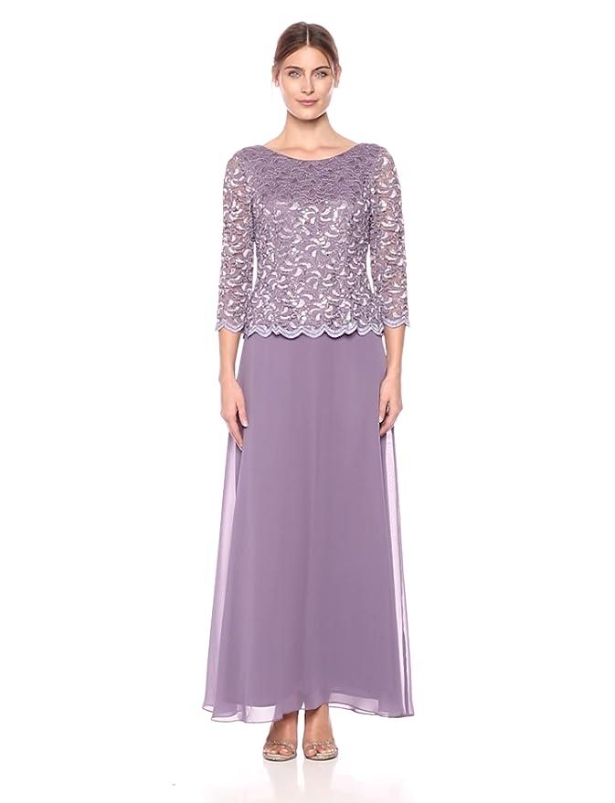 bde9c615386 Alex Evenings Women s Standard Long Mock Dress with Full Skirt (Petite and  Regular Sizes)
