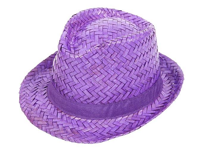 Alsino Hawaii Caribe sombrero sombrero de paja sombrero gorro de fiesta  Hawaii beach party sombrero Strohhut lila 95444  Amazon.es  Ropa y  accesorios 17f552ad976