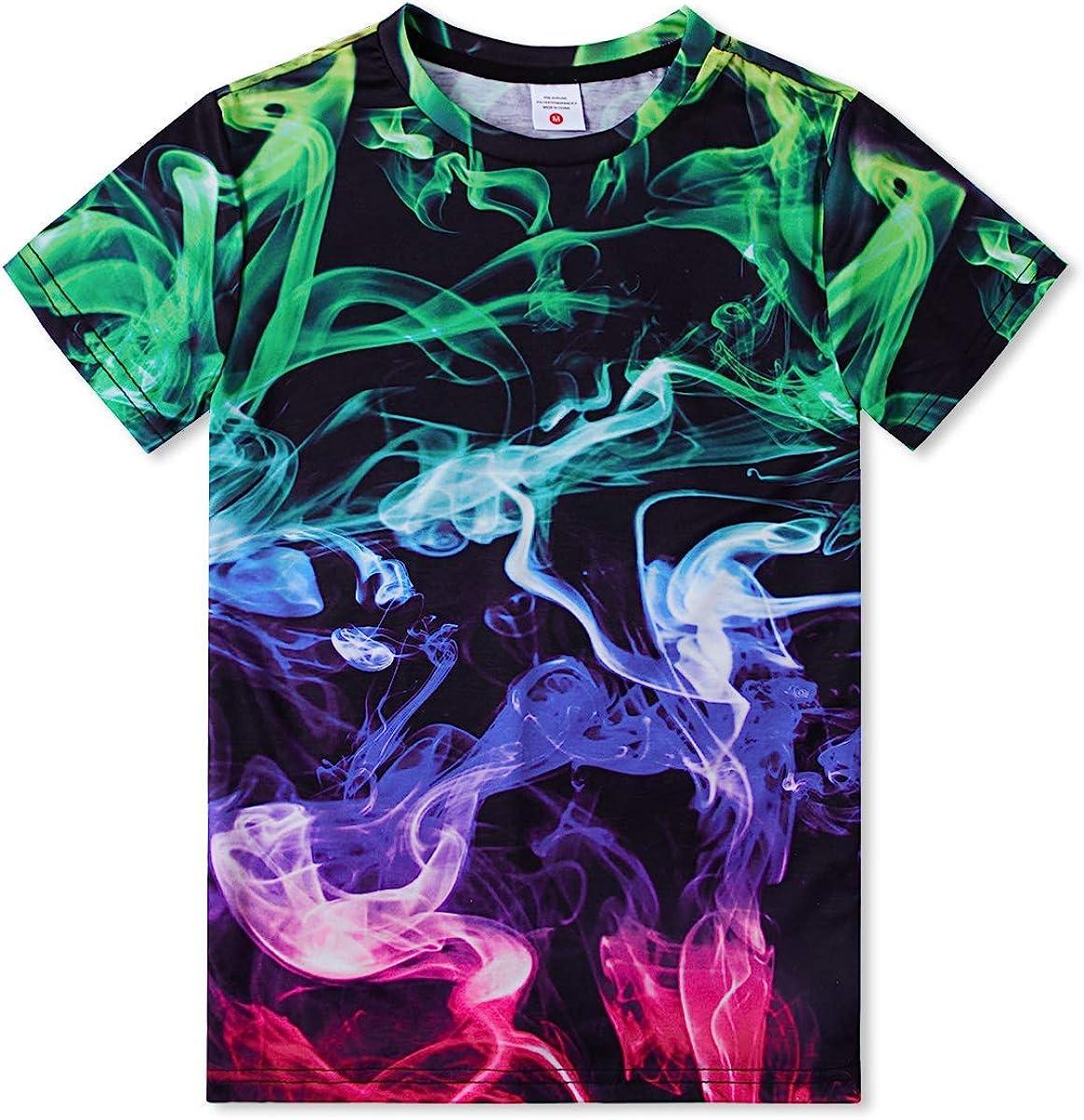 estiva a maniche corte unisex casual Funnycokid T-shirt da ragazzo con stampa 3D