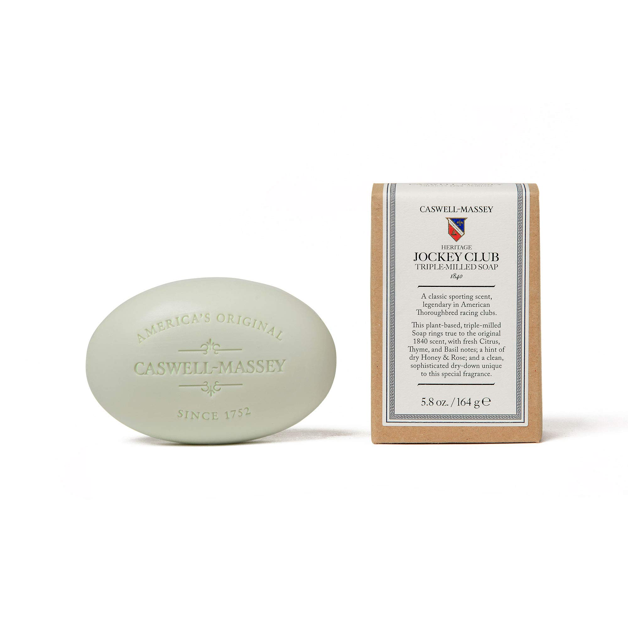 Amazon.com: Caswell-Massey Triple Milled Jockey Club Luxury Bath Soap Updated Formula With Scents of Citrus, Thyme, and Honey Single Bar Soap, ...