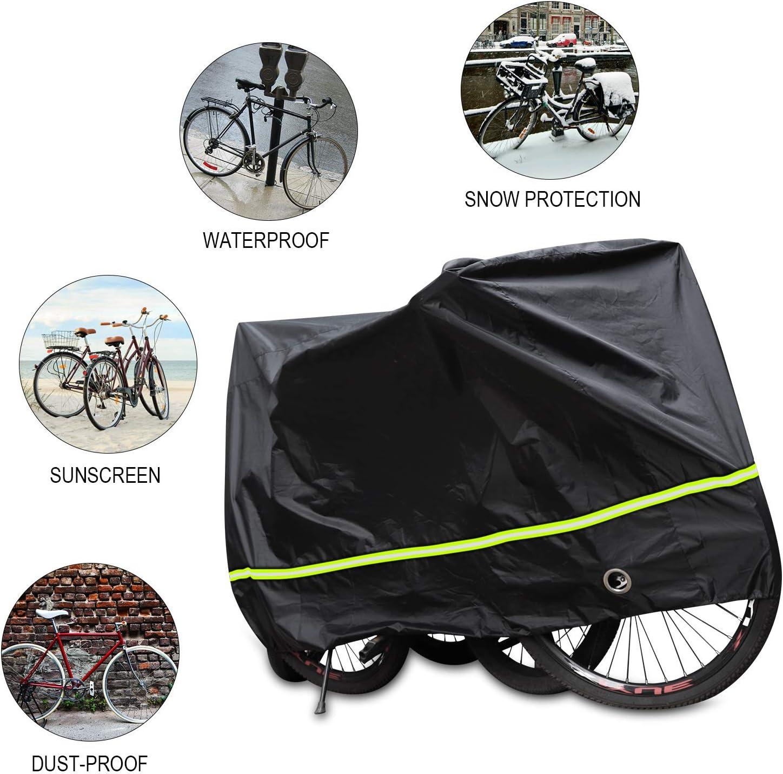 SICOOO Bike Cover,Bicycle Cover 190T Nylon Waterproof Anti Dust Rain UV Protection Heavy Duty Dust Cover for Mountain Bike Bike//Road Bike Covers for Outside Storage