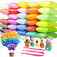 Tomorotec 33 Colors Air Dry Polymer Clay Super Soft, Ultra Light Foam Clay for Children Non-Toxic Eco-Friendly Magical…