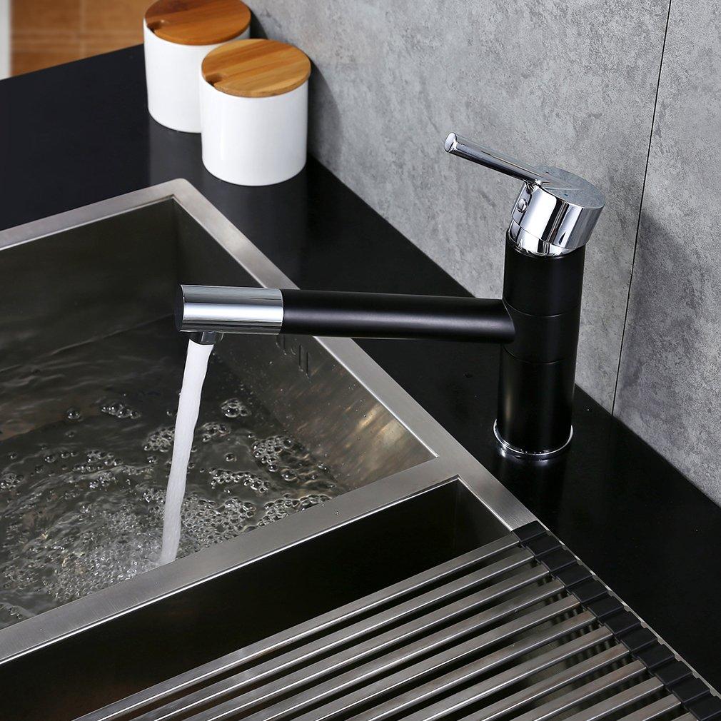 Auralum® Zeitgenössig Niederdruck Kalt- Heißwasser Mischbatterie ...