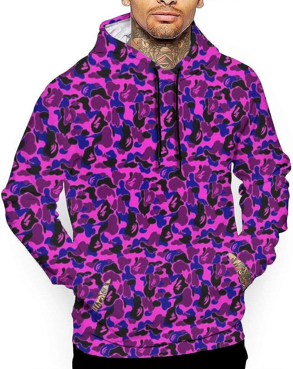 Hoodies for Men Loose Long Sleeve 3D Printed Bape Shark Pink Hooded Sweatshirt Pullover Hoodies