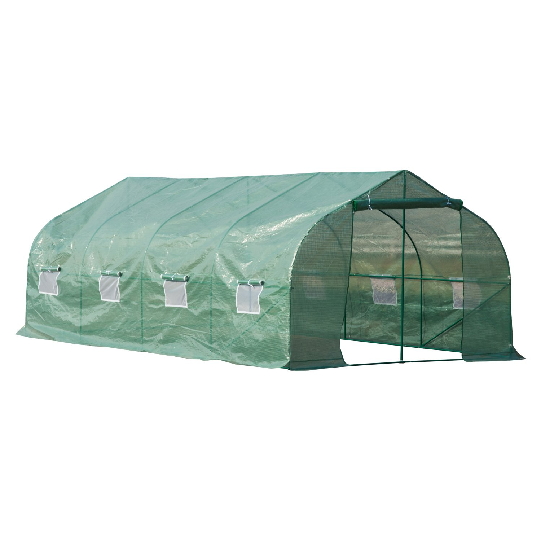 Outsunny 20' x 10' x 7' Portable Steel Large Backyard Greenhouse