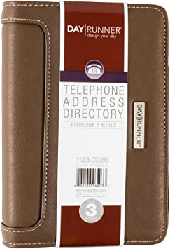 Day Runner 2016 Desk 4-3//4 x 8 5-3 x 8-11//16 Inches Telephone//Address Book 1121-0286