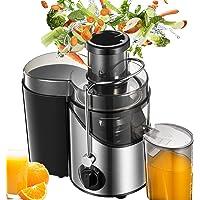 Licuadoras Para Verduras y Frutas, 3 Velocidades Licuadora Prensado Frio Extractor de Zumos Boca Ancha de 65mm,18000 RPM…