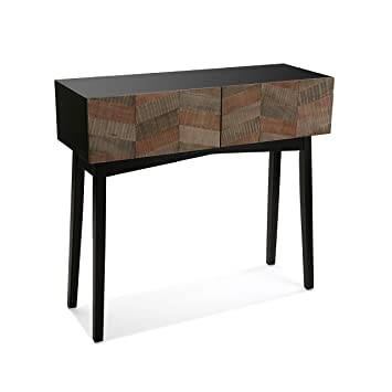 VERSA - Table console contemporaine noire bois Versa  Amazon.fr ... 7090b07274f9