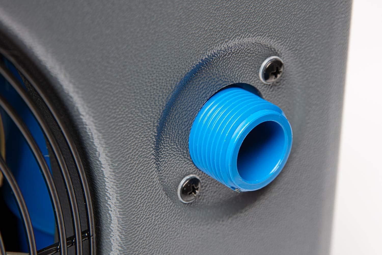 049273 220V Betriebsspannung Wasseranschluss /Ø 32//38 mm Steinbach Mini W/ärmepumpe f/ür Pools bis 20.000 l Wasserinhalt schwarz Heizleistung 3,9 kW
