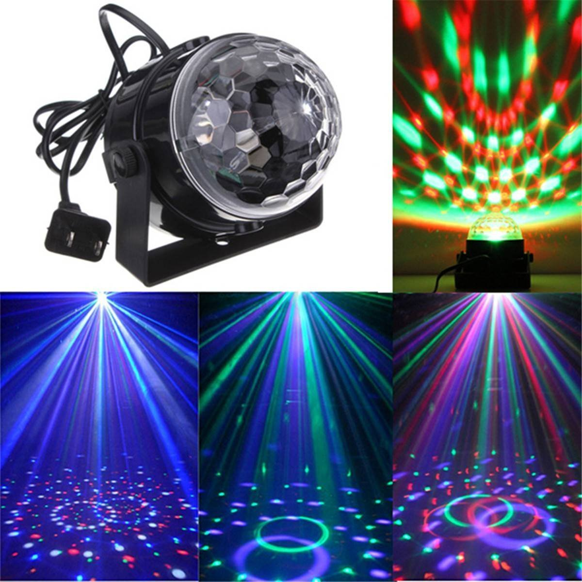 Amazon.com: DJ light Sound Activated Party Lights Disco Ball - KINGSO  Strobe Club lights Effect Magic Mini Led Stage Lights For Christmas Home  KTV Xmas ...
