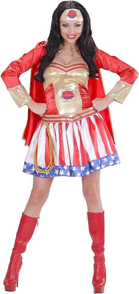 WIDMANN - Disfraz de superheroína para mujer - Talla S: Amazon.es ...