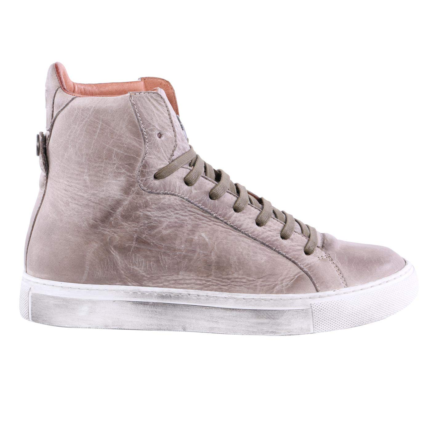 Matchless Damen Leder Turnschuhe Schuhe Lewis HIGH Dark Mud 142051-1 Größe 37
