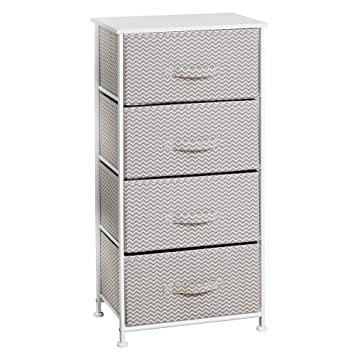 InterDesign Axis Fabric 4 Drawer Dresser And Storage Organizer Unit U2013  Bedroom, Dorm Room