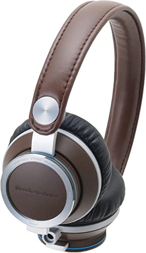 Audio Technica ATHRE700 BW On-Ear Headphones, Brown