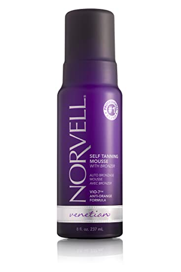 facf2ed1fa7 Amazon.com : Norvell Venetian Sunless Self-Tanning Mousse with Bronzer -  Instant - Natural Looking - Anti-Orange - Fake Tan for Bronzing Glow, 8  fl.oz.