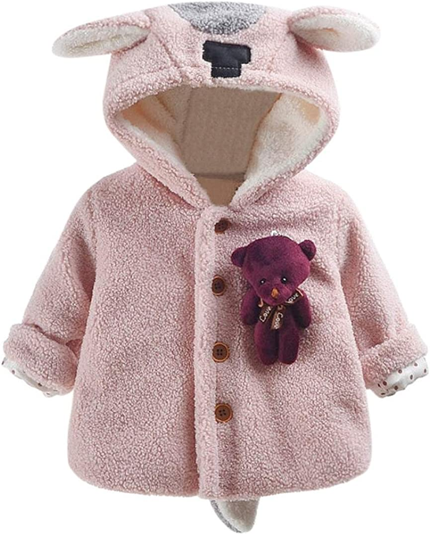 Amanod Baby Bear Autumn Winter Hooded Coat Cloak Jacket Thick Warm Clothes