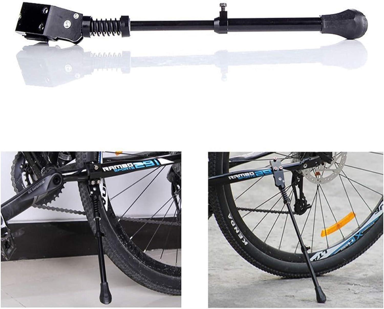 Antideslizante Soporte pie Aleaci/ón Universal Bicicleta Universal Soporte Lateral Goma Bicicleta Monta/ña Aleaci/ón Ajustable MTB con Pie de Goma Caballete Lateral para Bicicleta Regulable Altura Negro