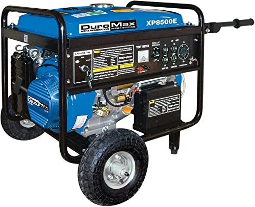 DuroMax XP8500E-CA 8,500 Watt 16 HP OHV 4-Cycle Gas Powered Portable Generator With Wheel Kit And Electric Start
