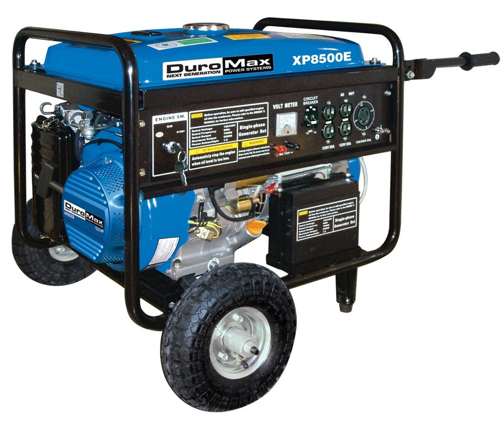 Duromax Xp8500e Ca 8500 Watt 16 Hp Ohv 4 Cycle Gas Generator To House Wiring Likewise How Hook Up Powered Portable With Wheel Kit And Electric Start Carb Compliant Garden