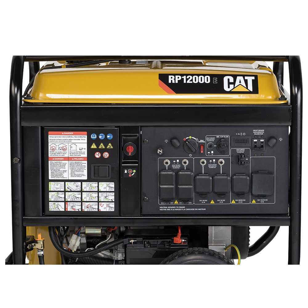 Rp12000e 12000 Running Watts 15000 Starting Gas Camp Ground Wiring Of A Typical 50a And 30a 20a Pedestal Connection Powered Portable Generator 502 3699 Garden Outdoor
