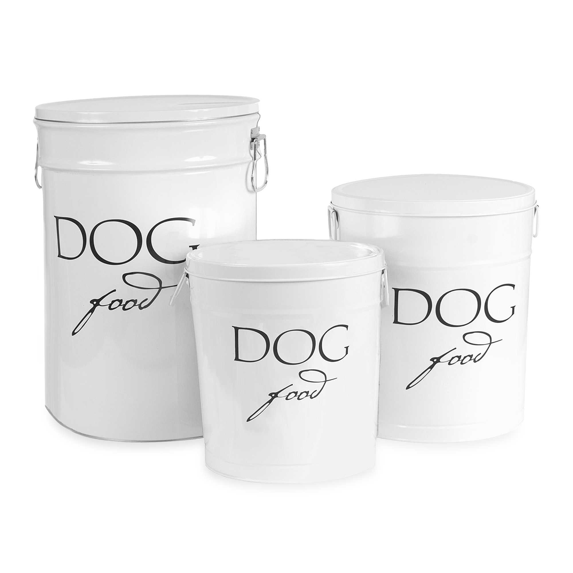 Harry Barker Small Dog Food Storage Canister in White