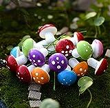 yueton Pack of 100 Mini Foam Mushroom for Garden