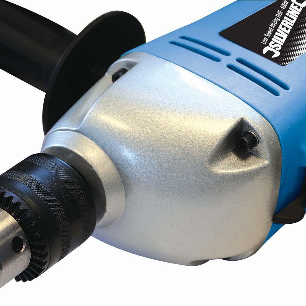 Silverline 123557 Perceuse-m/élangeuse basse vitesse 600 W
