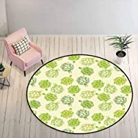 Kids Rugs for Playroom Artichoke Dining Room Rugs for Under Table Hand Drawn Fresh...
