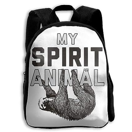 c6ef67f3f328 Amazon.com: My Spirit Animal is A Sloth Children's School Rucksack ...