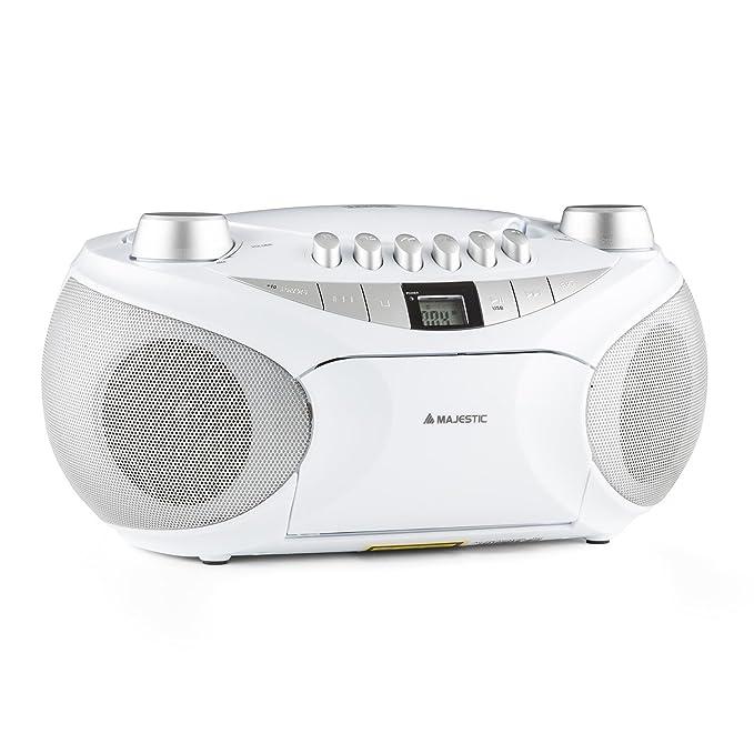 1 opinioni per Majestic AH-2287 radio boom box radio portatile (mangianastri per cassette,