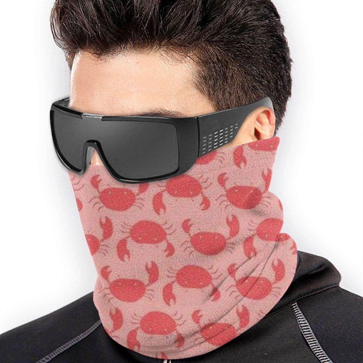 Crab Neck Warmer Gaiter For Men Women Headband Face Mask Bandana Head Wrap Scarf Headwear Winter Balaclava For Ski Running Motorcycle