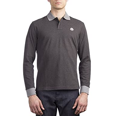 moncler long sleeve polo grey