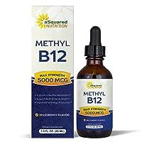 Vitamin B12 Sublingual Liquid Drops - 5000 MCG Supplement with Methylcobalamin (...