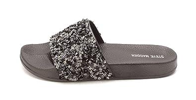 f3a9da4ce89 Amazon.com | Steve Madden Womens Cady Open Toe Casual Slide Sandals ...