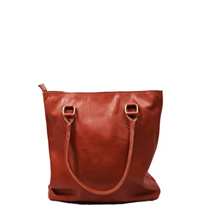 227797fd53 Buy SS Leathers Pure Brown Leather Ladies Hand Bag Online at Low Prices in  India - Amazon.in