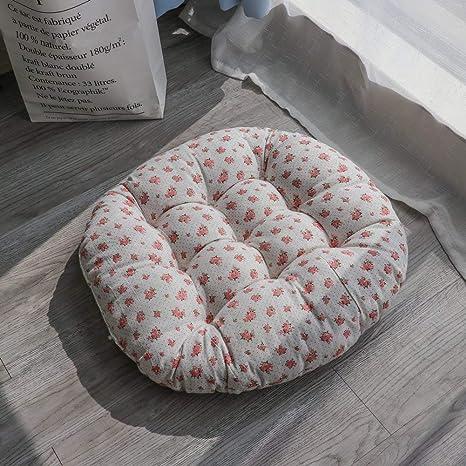 Tatami - Cojín de asiento para silla de interior y exterior, cojín para jardín, oficina, coche, redondo, almohadilla para silla 60X60cm(24x24inch) I