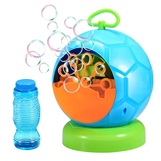 Bubble Machine, Geekper Automatic Bubble Blower Durable Bubble Maker with 1 Bottles of Bubbles Solution Refill, Over 500 Colorful Bubbles Per Minute Use