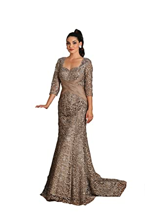 Royal Queen RQ7293 Red Carpet Mermaid Evening Gown (Cappuccino, 3XL)
