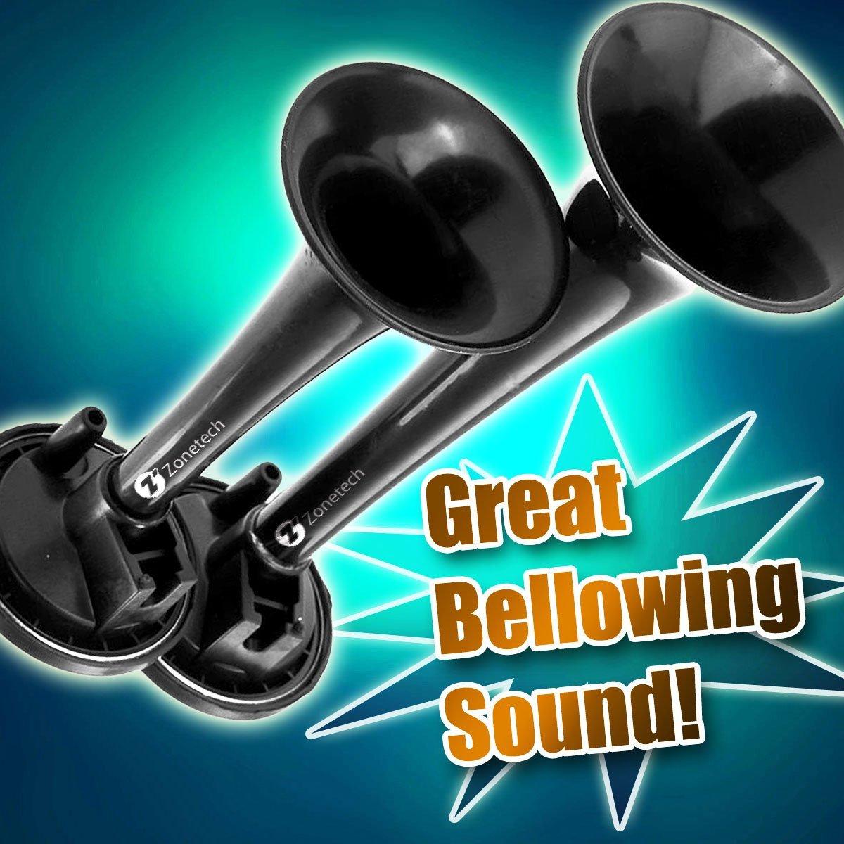 Amazon.com: 12V Dual Trumpet Air Horn -Zone Tech Premium Quality ...