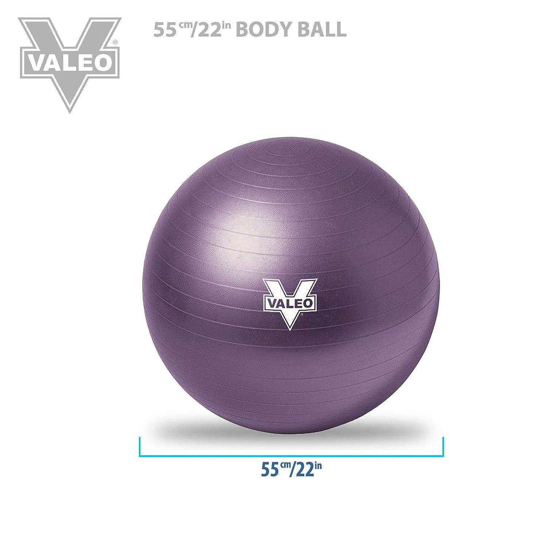 Balanceball f/ür Pilates Professioneller Anti-Burst Fitness Valeo Gymnastikball Yoga Stabilisierungstraining /& Training Physiotherapie