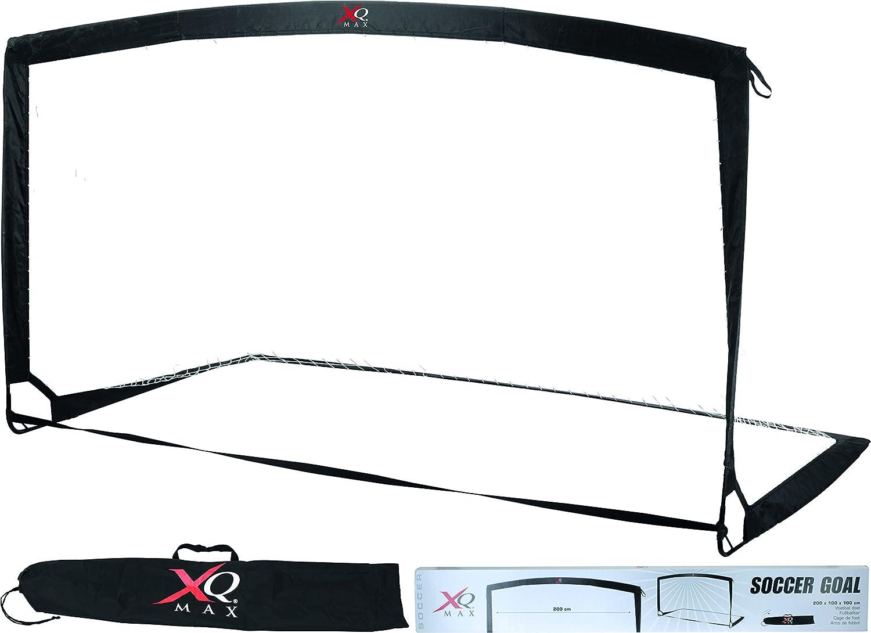 XQ Max Fu/ßballtore 200x100x100cm schwarz One Size