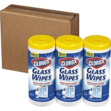 Amazon.com: Clorox Glass Wipes, Radiant Clean - 32 Count Each (Pack of 3): Sports & Outdoors