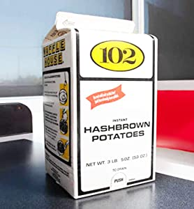 Waffle House Instant Hashbrown Potatoes 3.31 Lb! Made With 100% Real Potatoes! Healthy Breakfast Hashbrowns! Easy And Tasty Restaurant Style Hash Browns Of Your Own Home!
