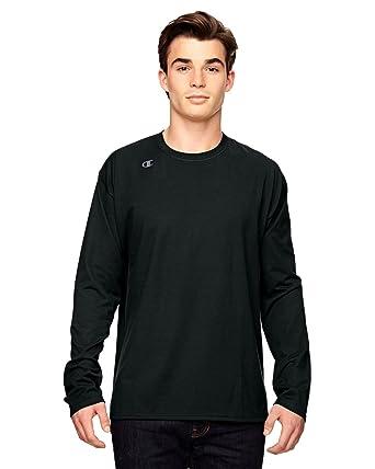 c849b1d5 Amazon.com: Champion mens Vapor Cotton Long-Sleeve T-Shirt (T390 ...