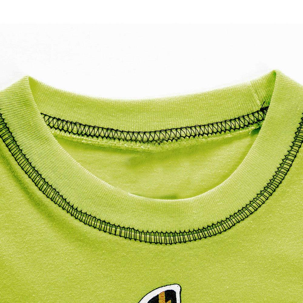 feiXIANG Ropa para niños Ropa recién Nacida bebé niño Verano Dinosaurio de Dibujos Animados Corto Camiseta Camiseta Ropa Ropa Moda hogar: Amazon.es: ...
